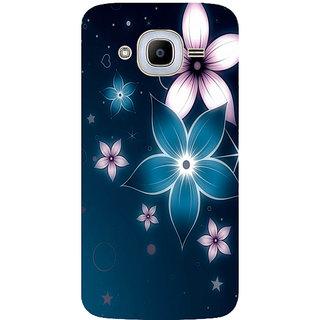 GripIt Shining Flower Printed Case for Samsung Galaxy J2 (2016)