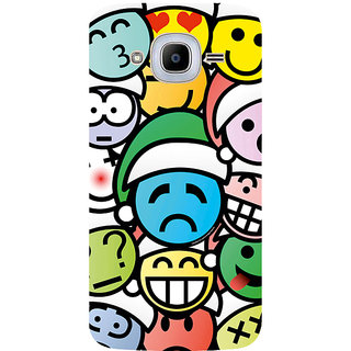 GripIt Different Smiles Printed Case for Samsung Galaxy J2 (2016)
