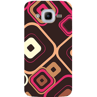 GripIt Squares Pattern Printed Case for Samsung Galaxy J2 (2016)