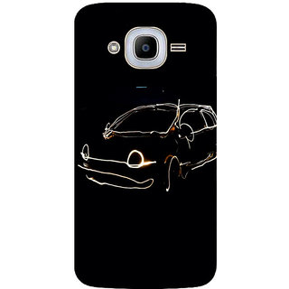 GripIt LED Car Printed Case for Samsung Galaxy J2 (2016)