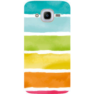 GripIt Watercolor Strips Printed Case for Samsung Galaxy J2 (2016)
