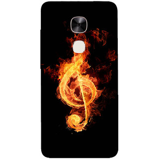 GripIt Fire Music Printed Back Cover for LeEco Le Max 2
