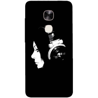 GripIt DJ Girl Printed Back Cover for LeEco Le Max 2