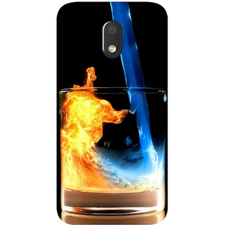 GripIt Fiery Whiskey Printed Case for Motorola Moto E3