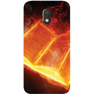 GripIt Book From Fire Printed Case for Motorola Moto E3
