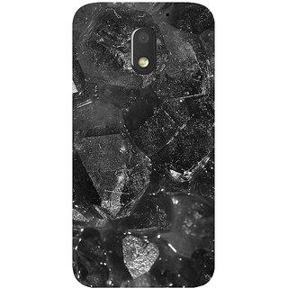 GripIt Grey Black Marble Printed Case for Motorola Moto E3