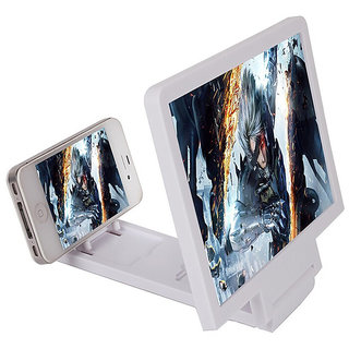 3d Mobile Magnifier Screen white