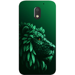 GripIt Lion in the Leaves Printed Case for Motorola Moto E3