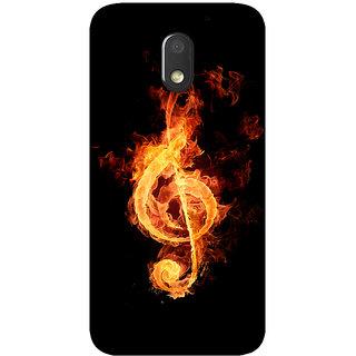 GripIt Fire Music Printed Back Cover for Motorola Moto E3