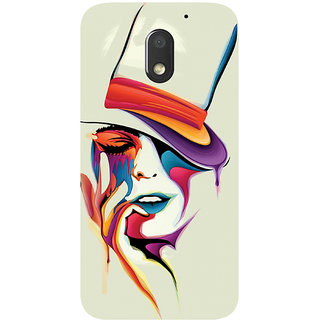 GripIt Painted Woman Printed Case for Motorola Moto E3