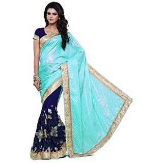 Beauty N Women Navy Georgette Saree