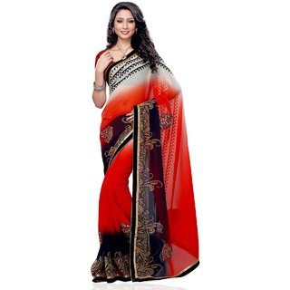 Beauty N Women Multi Patch Work Silk Saree