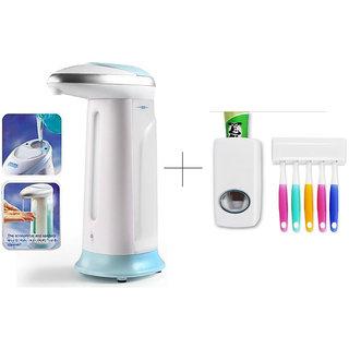 Buy 2 Pcs Soap Dispenser With Free Toothpaste Dispenser - SPIS2THSK1