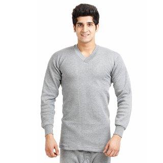 TT ( Pack of 1 ) Grey V Neck Thermal Vest For Men