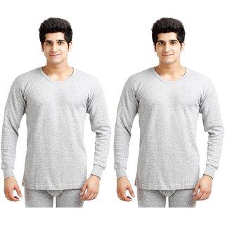 TT ( Pack of 2 ) Grey Round Neck Thermal Vest For Men