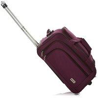 Novex Solo 56 Cms Wine 2 Wheel Duffle Trolley Bag