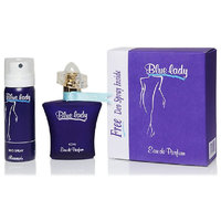Rasasi Blue Lady Perfume And Aqua Fresh Combo Set