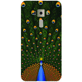 GripIt Peacock Printed Back Cover for Asus Zenfone 3