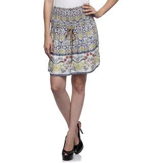 One Femme Womens Floral Print Mini Skirt