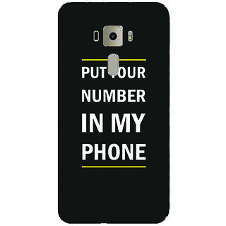 GripIt Put Your No in My Mobile Printed Case for Asus Zenfone 3 Laser