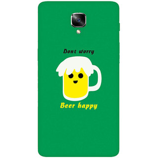 GripIt Beer Happy Printed Casefor OnePlus 3