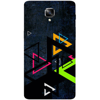 GripIt Colourful Triangles Printed Back Cover for OnePlus 3