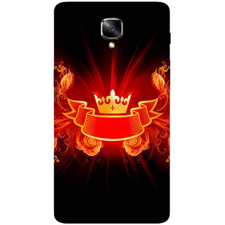 GripIt Crown From Fire Printed Back Cover for OnePlus 3