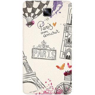 GripIt Paris Art Printed Casefor OnePlus 3