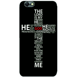 GripIt Cross Typography Printed Back Cover for Lenovo Vibe C