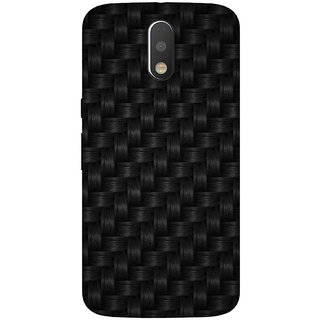 GripIt Thick Black Weaved Case for Motorola Moto G4 Plus