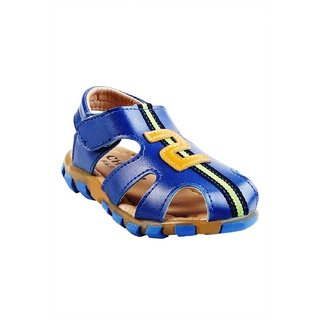 Small Toes Synthetic Leather Blue Comfortable Latest Stylish Solids Sandal For Baby Boys