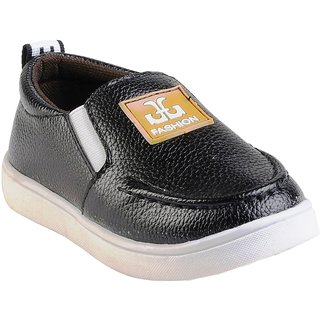Small Toes Black Comfortable Latest Stylish Synthetic Shoes For Kids