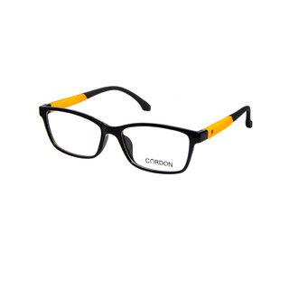 Cardon Black Full Rim Unisex Rectangular Spectacle Frame