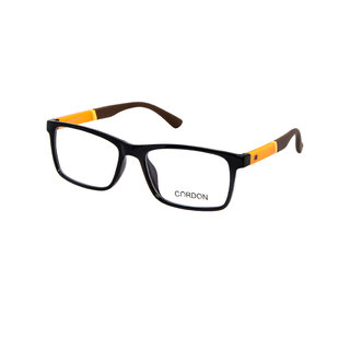 Cardon Black Full Rim Unisex Rectangular Spectacle Frame