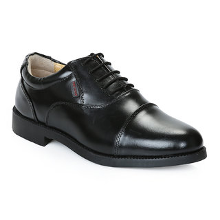 Red Chief Mens Black Lace-up Formal Shoes