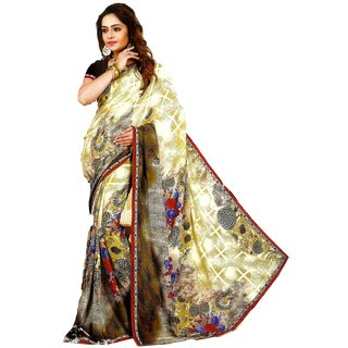 Star Fashion Multicolor Phulkari Art Silk Saree with Blouse