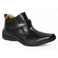 Red Chief Men's Black Slip On Formal Shoes