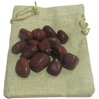 Red Jasper Pebbles In Jute Bag - Reiki, Crystal Healing, Fengshui,