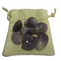 Amethyst Pebbles In Jute Bag For Vastu Reiki Crystal Chakra Healing Meditation