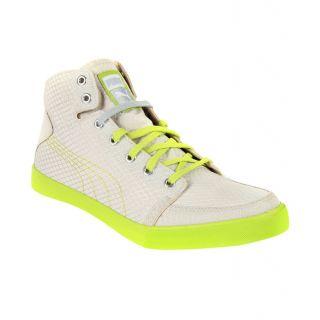 Puma Men Beige  Green Lace-up Casual Shoes
