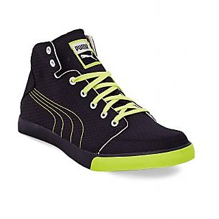 Puma Men Black Green Lace-up Casual Shoes