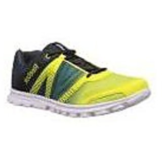 Reebok Run Duo Fast Men's Navy and Yellow Lace Up Sport Shoes