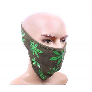 sushito Millitary Green Printed Facke Mask JSMFHFM0561N