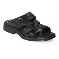 Red Chief Men's Formal Black Slip On Sandals - 101532812