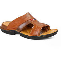 Red Chief Men's Formal Tan Slip On Sandals