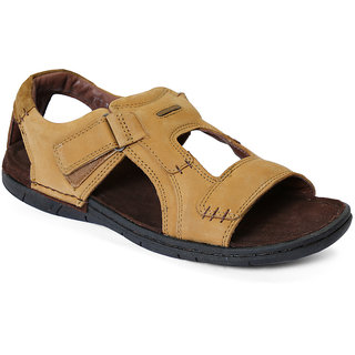 Red Chief Men's Formal Brown Velcro Sandals
