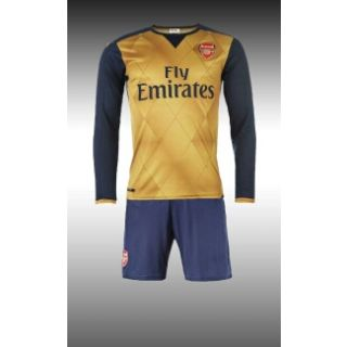 Imported blue and orange color arsenal football Jersey with shorts