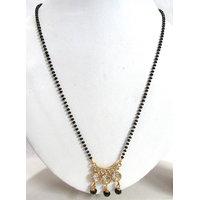 Black Drop Stone Pendant Mangalsutra Necklace