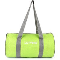 Lutyens Lime Grey Polyester Printed Casual Gym/Drum Bags (20 Liters)