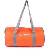 Lutyens Orange Grey Polyester Printed Casual Gym/Drum Bags (20 Liters)